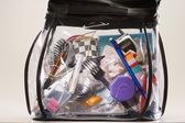Clear Overnight Bag — Stock Photo