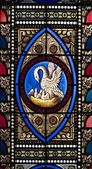 Stained Glass Window In A Church — Стоковое фото