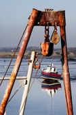 Pulley System On A Boat — Stock Photo