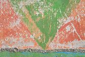 Distressed paint on concrete wall — Stock Photo