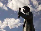 Statue Of Louis Riel, Winnipeg, Manitoba, Canada — Stock Photo