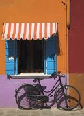 Bicycle In Burano, Italy — Stock Photo