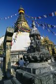 Swayambhunath Buddhist Temple, Kathmandu, Nepal — Stock Photo