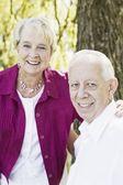 Portrait d'un couple de personnes âgées — Photo