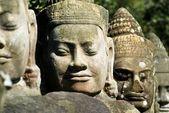 Head Statues, Angkor Thom, Cambodia — Stock Photo