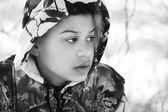 Teenage Boy In Camouflage Clothing — Stock Photo