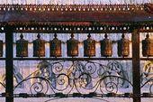 Budist dua tekerlekleri, swayambhunath Tapınağı, nepal — Stok fotoğraf