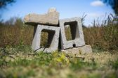 Cinder Blocks In A Pile — Stock Photo