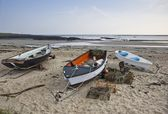Boats on beach — Stock Photo