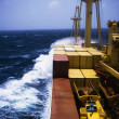 Shipping, Container Ship In Storm — Stock Photo