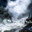 Steam Rising From A River In Yellowstone National Park, Wyoming, Usa — Stock Photo #31801135