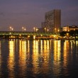Rhine, Germany. Buildings And City Lights Reflected In The River — Stock Photo #31801905