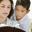 Mother And Son Reading A Bible — Stock Photo #31803241