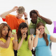 Group Of Teenagers Primping — Stock Photo