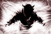 Silhouette Of Figure Representing Evil — Stock Photo