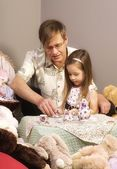 Father And Daughter Having Tea Party — Stock Photo