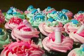 Cupcakes Made For A New Baby Celebration — Stockfoto