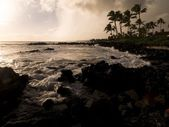 Rocky Coastline, Poipu, Kauai, Hawaii — Stock Photo