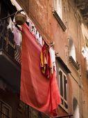 Laundry Drying, Naples, Italy — Stock Photo
