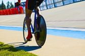 Biker On A Track — Stock Photo