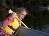 Girl In A Boat — Stock Photo