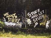 Graffiti About Studying, Kerala, India — Stock Photo