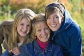 Portrait Of Mother With Two Teenage Daughters — Stock Photo