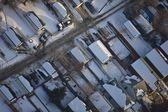 Snow Covered Houses In Residential Suburb — Stock Photo