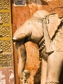Monumento di elefante, jaipur, india — Foto Stock
