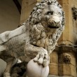 Lion (Marzocco) Guarding An Entrance — Stock Photo