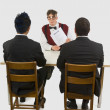 Man At A Business Interview — Stock Photo