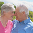 Senior Couple Rubbing Noses — Stock Photo
