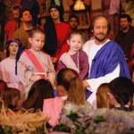 Jesus With Children - Religious speech — Stock Photo