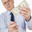 BusinessmAbout To Burn Money — Stock Photo #31933171