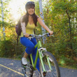 Cyclist Riding On Bike Path — Foto Stock