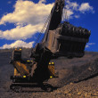 Dragline In Open Pit Mine — Stock Photo