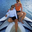 Stock Photo: Women Sit On Boat