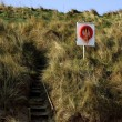 Steps To Beach, Northumberland, England — Stock Photo