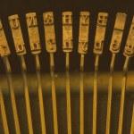 Row Of Keys On Old Manual Typewriter — Stock Photo #31933769