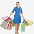 Woman Carrying Gift Bags — Stock Photo #31933773