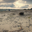 Stock Photo: Beached Boat, Alnmouth, Northumberland, England