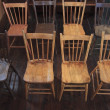 Wooden Chairs Set Up In Rows — Stock Photo #31934129