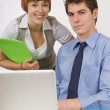 Two Business Colleagues Working Together — Stock Photo #31934607