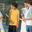 Group Of Tennis Players On A Court — Stock Photo #31934759