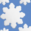 Stylized Snowflakes With Blue Background — Stock Photo