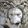 Statue Of Lion Biting Horse — Stok Fotoğraf #31935119