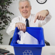 BusinessmRecycling Papers — Stock Photo #31935123