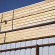 Stacks Of Tied Lumber — Stock Photo