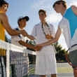 Stock Photo: Tennis Players Shaking Hands
