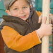 Young Boy Playing At A Playground — Stock Photo